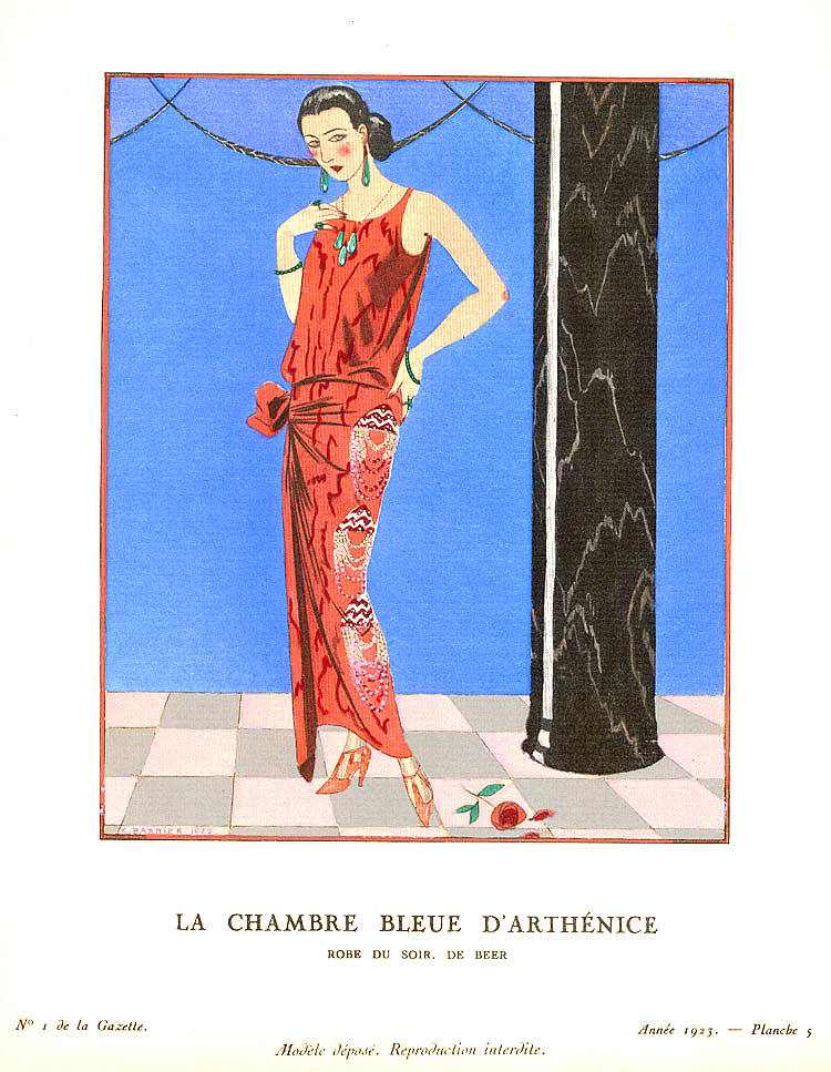 George barbier 39 s artwork titled la chambre bleue d for Amalric la chambre bleue