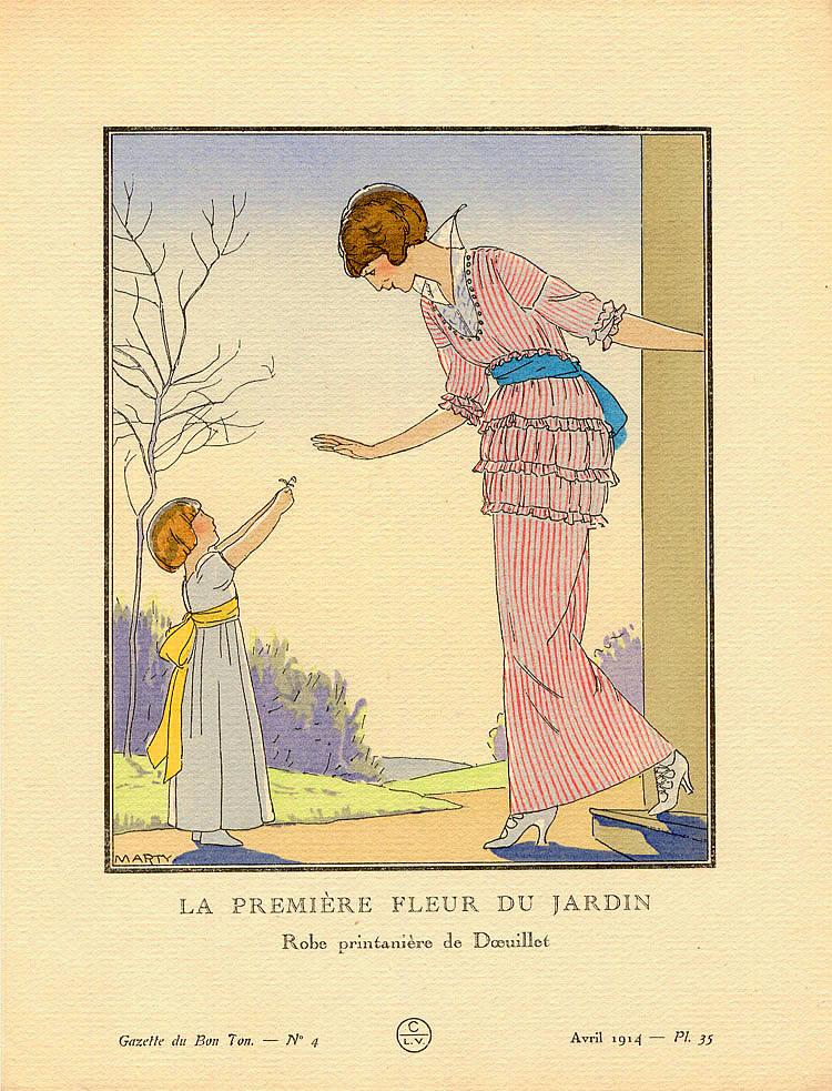 A.E. Marty\'s artwork titled La Premiere Fleur du Jardin presented ...